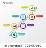 timeline infographics template. ... | Shutterstock .eps vector #703957060