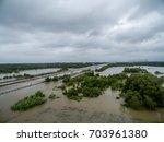 hurricane harvey flooded... | Shutterstock . vector #703961380