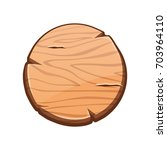 vector cartoon round wooden...