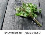 bouquet garni. classical french ... | Shutterstock . vector #703964650