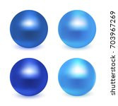 blue glossy sphere collection... | Shutterstock .eps vector #703967269