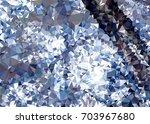 geometric low polygonal... | Shutterstock . vector #703967680