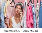nothing to wear concept.... | Shutterstock . vector #703975213