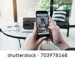 chiang mai  thailand   aug 14 ... | Shutterstock . vector #703978168