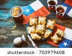 chilean independence day... | Shutterstock . vector #703979608