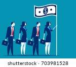 social capitalism. business... | Shutterstock .eps vector #703981528