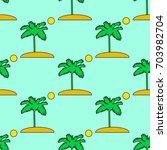 seamless vector tropical... | Shutterstock .eps vector #703982704