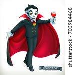 vampire. happy halloween  3d... | Shutterstock .eps vector #703984468