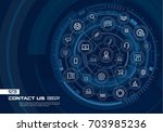 abstract contact us  call... | Shutterstock .eps vector #703985236