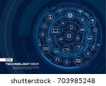 abstract technology background. ... | Shutterstock .eps vector #703985248