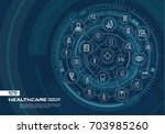 abstract healthcare  medicine... | Shutterstock .eps vector #703985260
