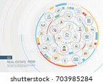 abstract real estate background.... | Shutterstock .eps vector #703985284