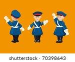 russian wooden toy  figurine of ...   Shutterstock .eps vector #70398643
