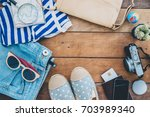 clothing traveler's passport ... | Shutterstock . vector #703989340
