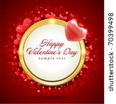 valentine's day vector... | Shutterstock .eps vector #70399498