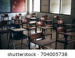 soft and blur focus.row lecture ...   Shutterstock . vector #704005738