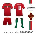 portugal football national team ... | Shutterstock .eps vector #704008168