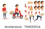 food delivery service. order...   Shutterstock .eps vector #704020516