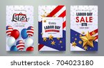 labor day sale promotion... | Shutterstock .eps vector #704023180