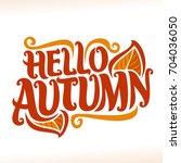 vector poster for autumn season ... | Shutterstock .eps vector #704036050