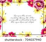 romantic invitation. wedding ... | Shutterstock . vector #704037940