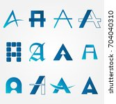 letters a set vector graphics | Shutterstock .eps vector #704040310