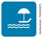 beach sign blue. vector. | Shutterstock .eps vector #704042470