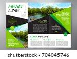 business brochure. flyer design.... | Shutterstock .eps vector #704045746