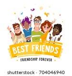 color vector illustration group ... | Shutterstock .eps vector #704046940