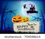 happy halloween vector... | Shutterstock .eps vector #704048614