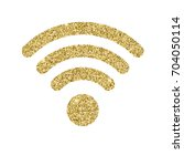 wi fi icon with glitter effect  ... | Shutterstock .eps vector #704050114