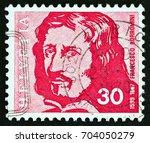 switzerland   circa 1969  a...   Shutterstock . vector #704050279