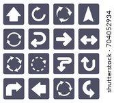 arrow icon set vector   Shutterstock .eps vector #704052934