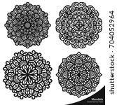 mandala art oriental natural...   Shutterstock .eps vector #704052964