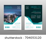 annual report brochure layout... | Shutterstock .eps vector #704053120