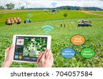 smart farming 4.0   hi tech... | Shutterstock . vector #704057584