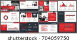 red presentation templates and... | Shutterstock .eps vector #704059750