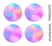 holographic gradient. vibrant... | Shutterstock .eps vector #704061070
