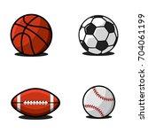 set of balls for football or...   Shutterstock .eps vector #704061199