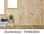 mock up modern home decor with... | Shutterstock . vector #704063833