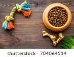 large bowl of pet   dog food... | Shutterstock . vector #704064514