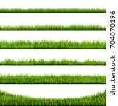 grass border big collection ... | Shutterstock .eps vector #704070196