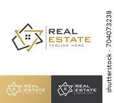 real estate g letter  logo | Shutterstock .eps vector #704073238