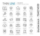 collection of security thin... | Shutterstock .eps vector #704074999