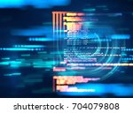 programming code abstract... | Shutterstock . vector #704079808