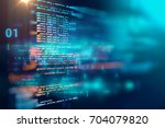 programming code abstract... | Shutterstock . vector #704079820