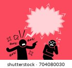 a man shouting and screaming at ... | Shutterstock .eps vector #704080030