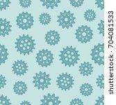 seamless gear pattern. vector... | Shutterstock .eps vector #704081533
