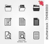 file icons vector | Shutterstock .eps vector #704083003