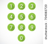 set of 0 9 numbers | Shutterstock .eps vector #704083720